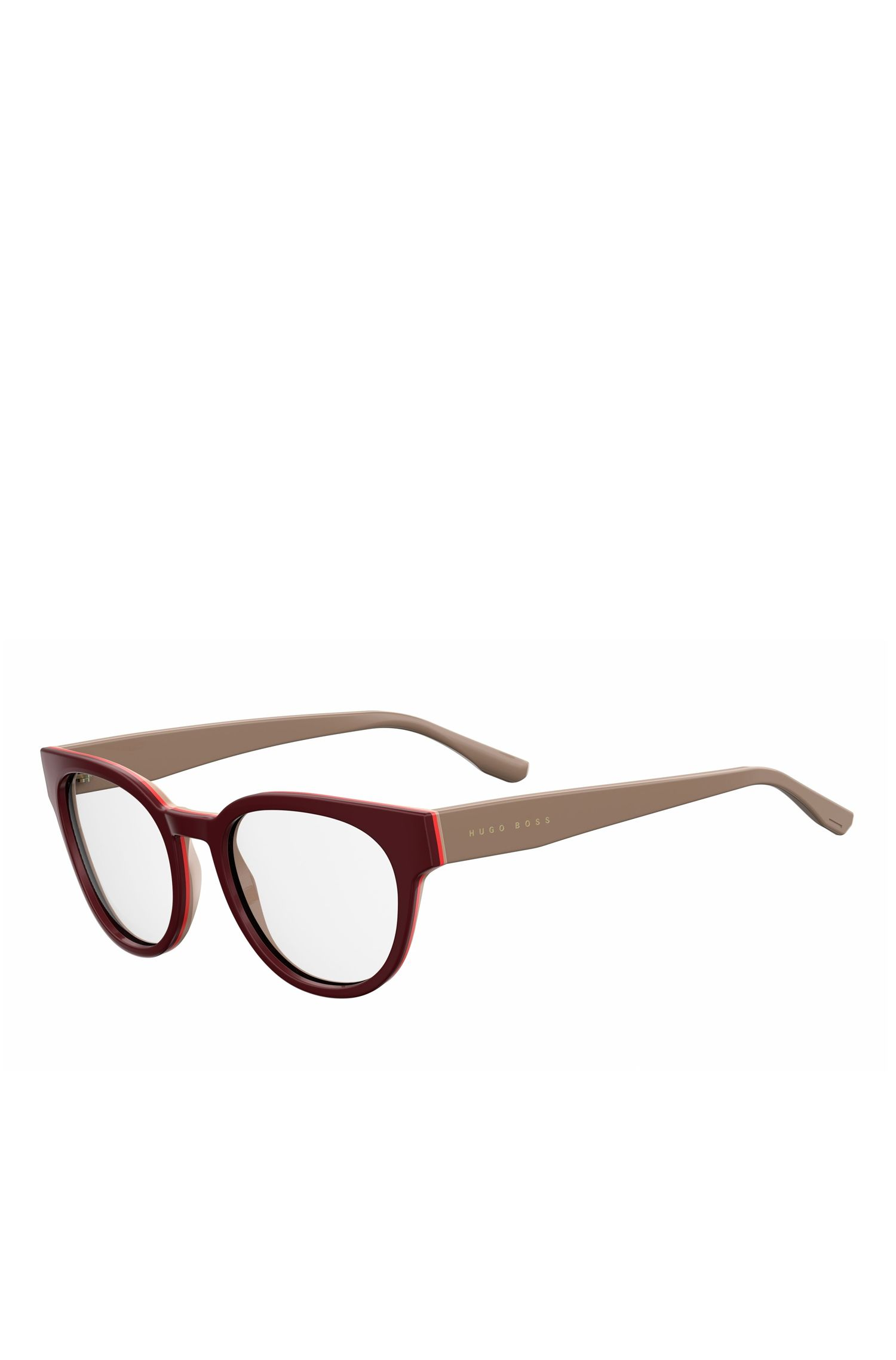 Burgundy Acetate Round Optical Frames | BOSS 0889 0U2