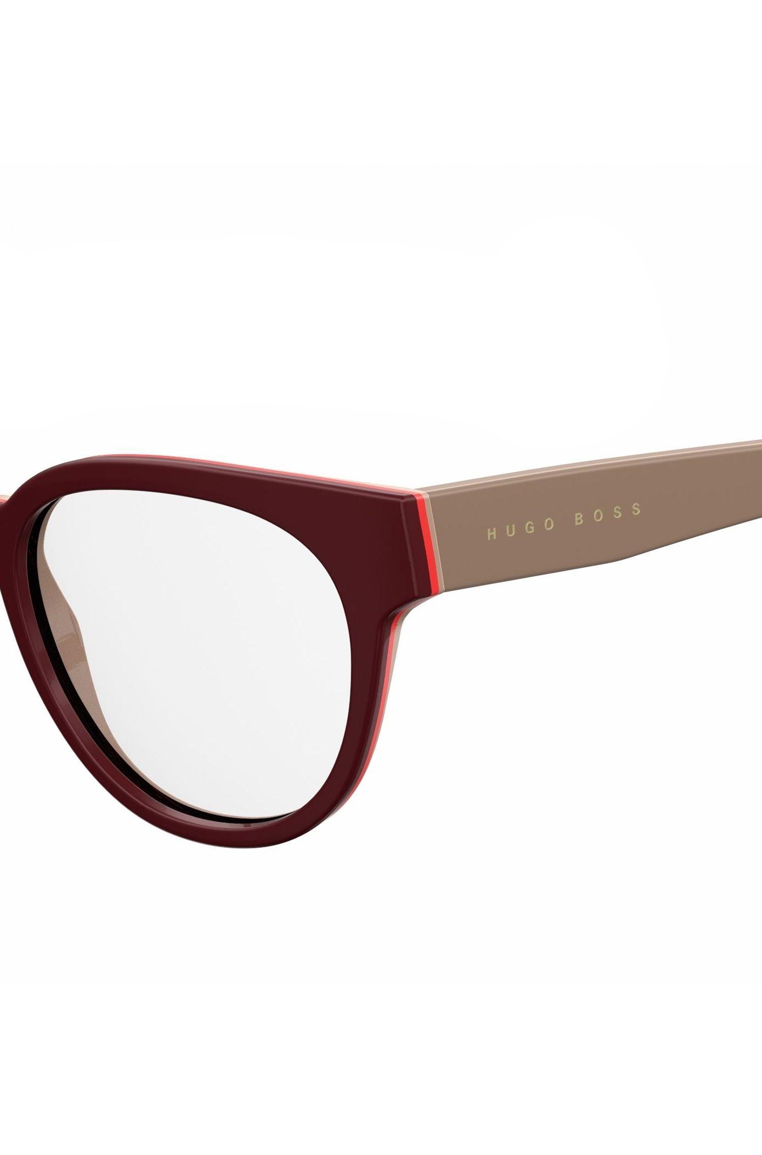 Burgundy Acetate Round Optical Frames | BOSS 0889 0U2