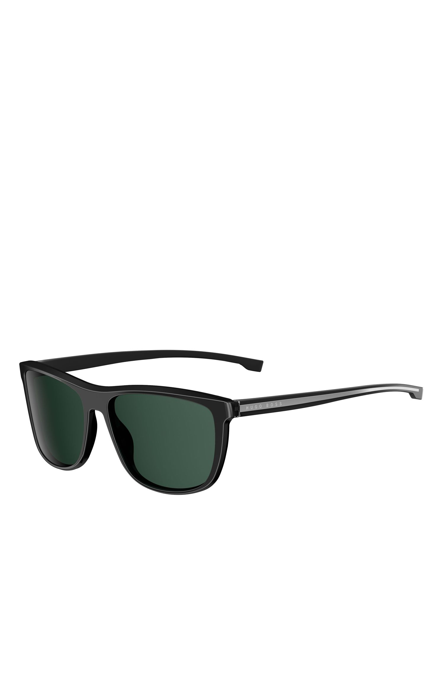 'BOSS 0874S' | Black Lens Top Bar Sunglasses