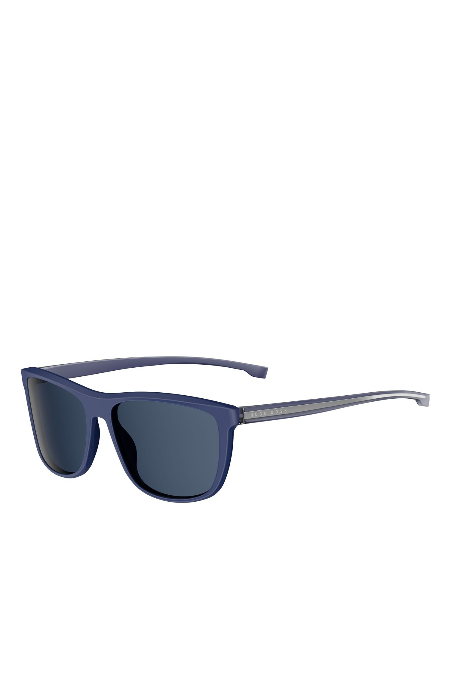 'BOSS 0874S'   Blue Lens Top Bar Sunglasses