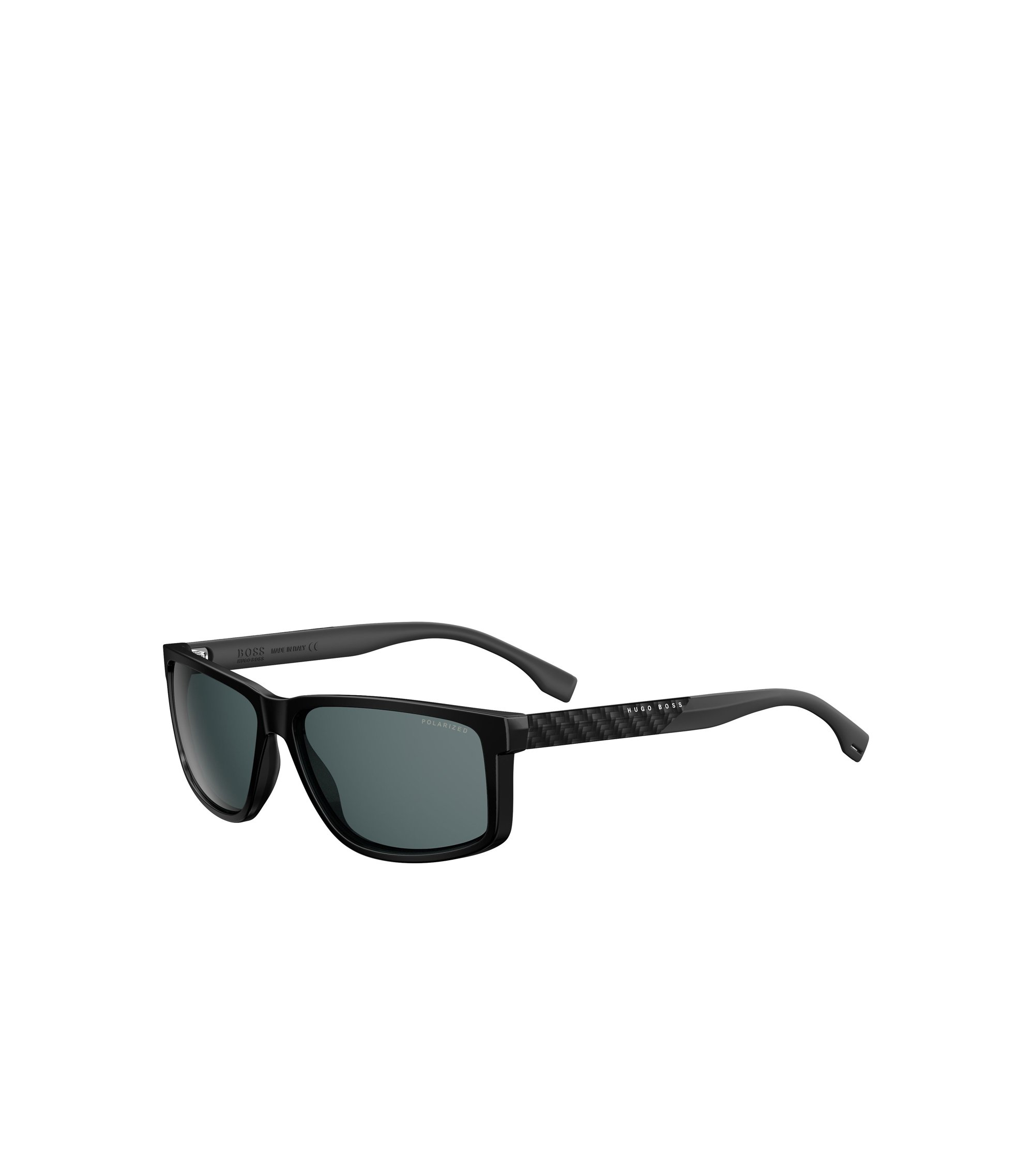 Dark Grey Carbon Fiber Rectangular Sunglasses | BOSS 0879, Assorted-Pre-Pack