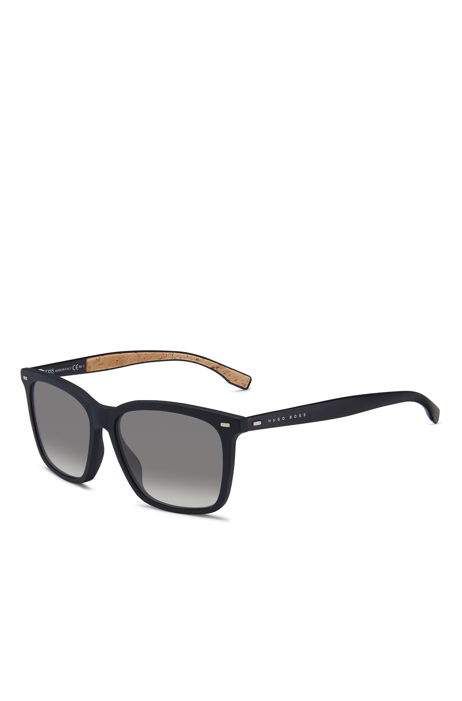 'BOSS 0883S' | Black Acetate Rectangular Sunglasses