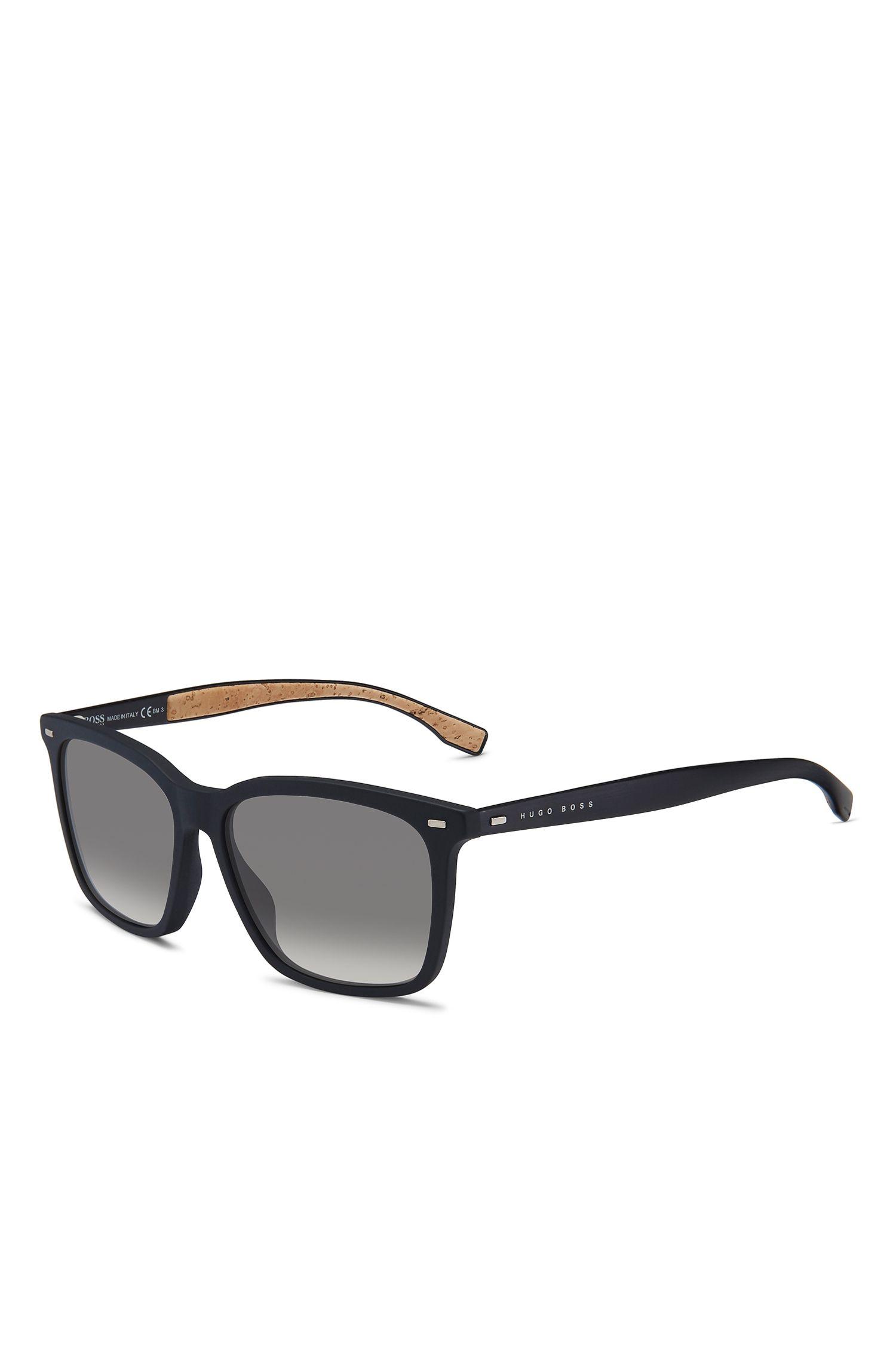 'BOSS 0883S'   Black Acetate Rectangular Sunglasses