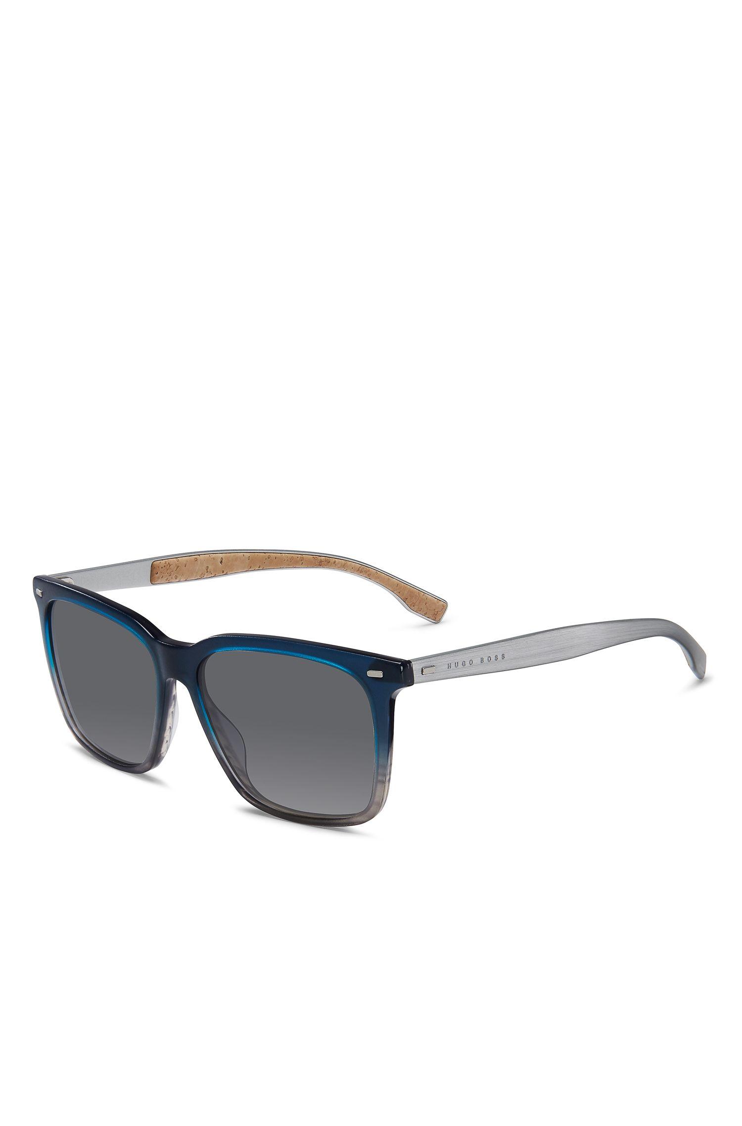Grey Acetate Rectangular Sunglasses | BOSS 0883S