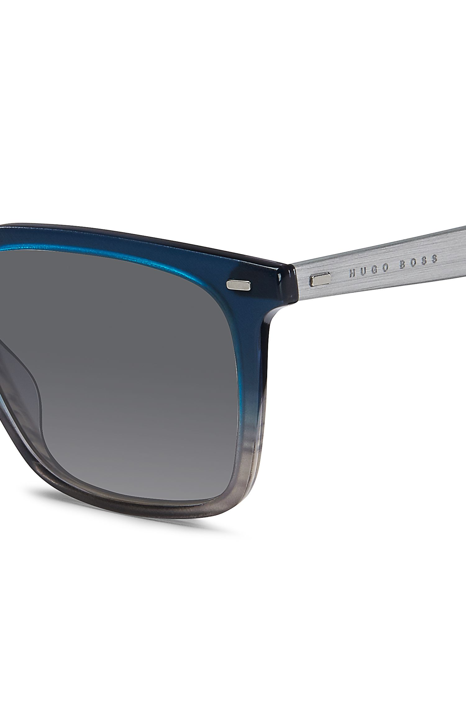 Grey Acetate Rectangular Sunglasses | BOSS 0883S