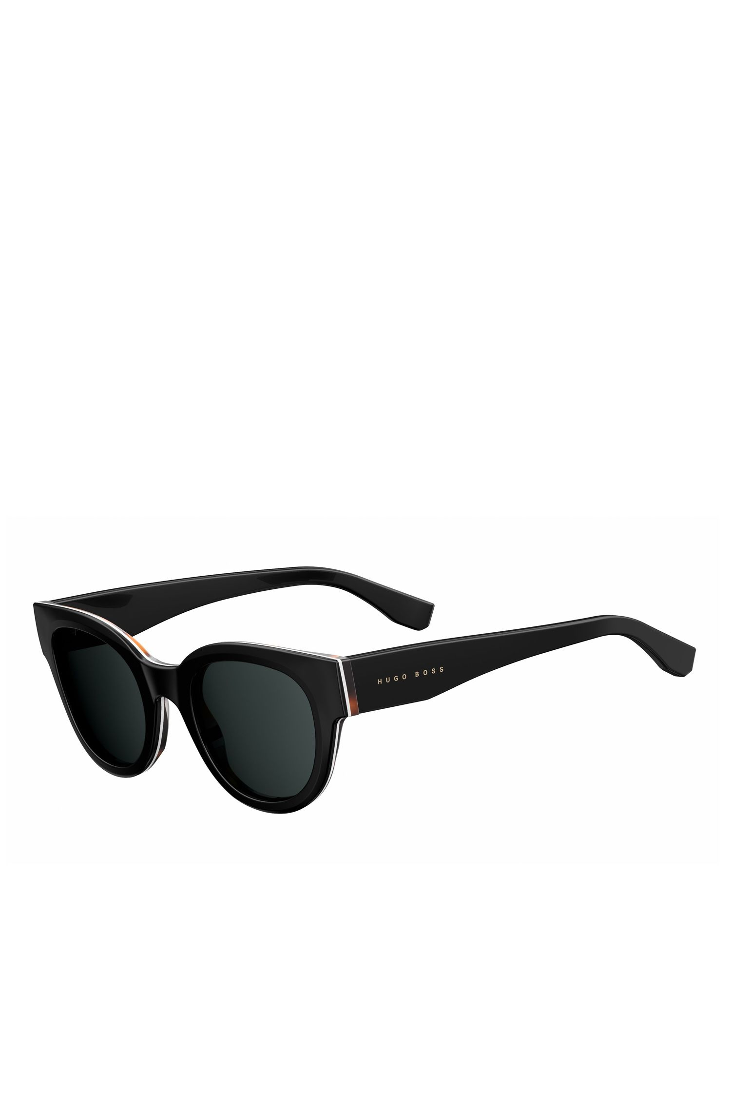'BOSS 0888S' | Black Lens Block Cat Eye Sunglasses