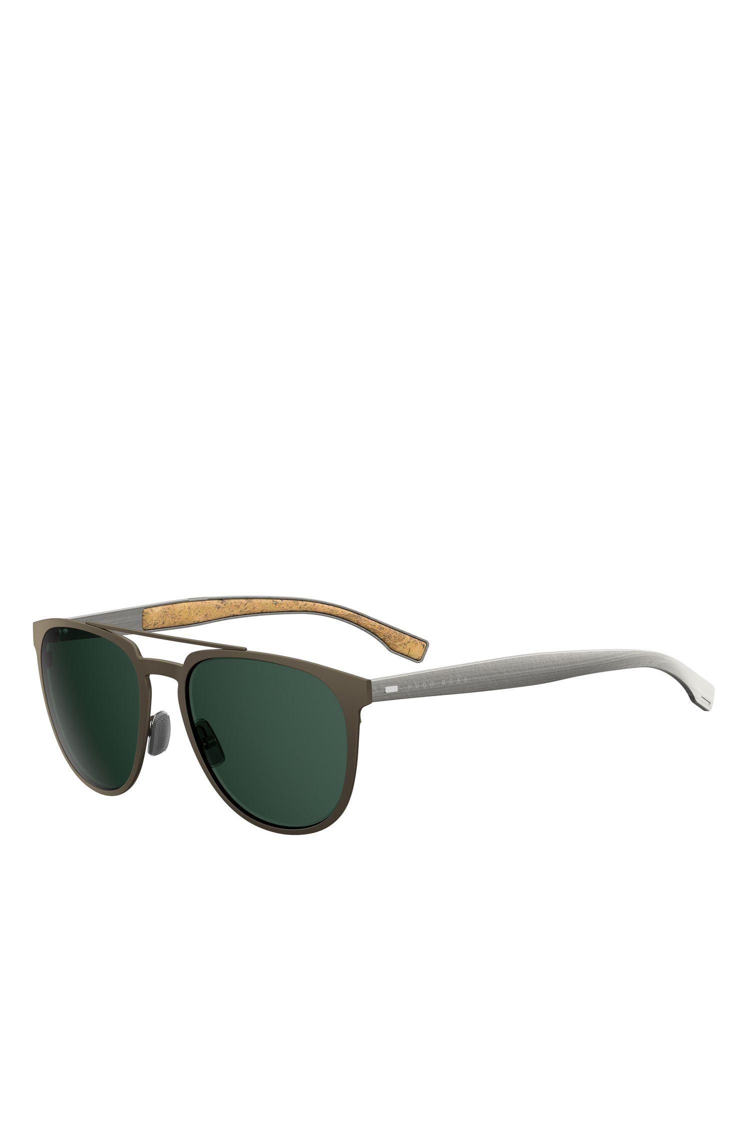 'BOSS 0882S'   Dark Brown Round Metal Sunglasses