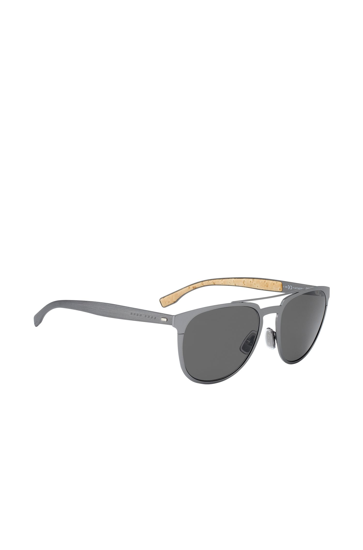 Silver Round Metal Sunglasses | BOSS 0882S