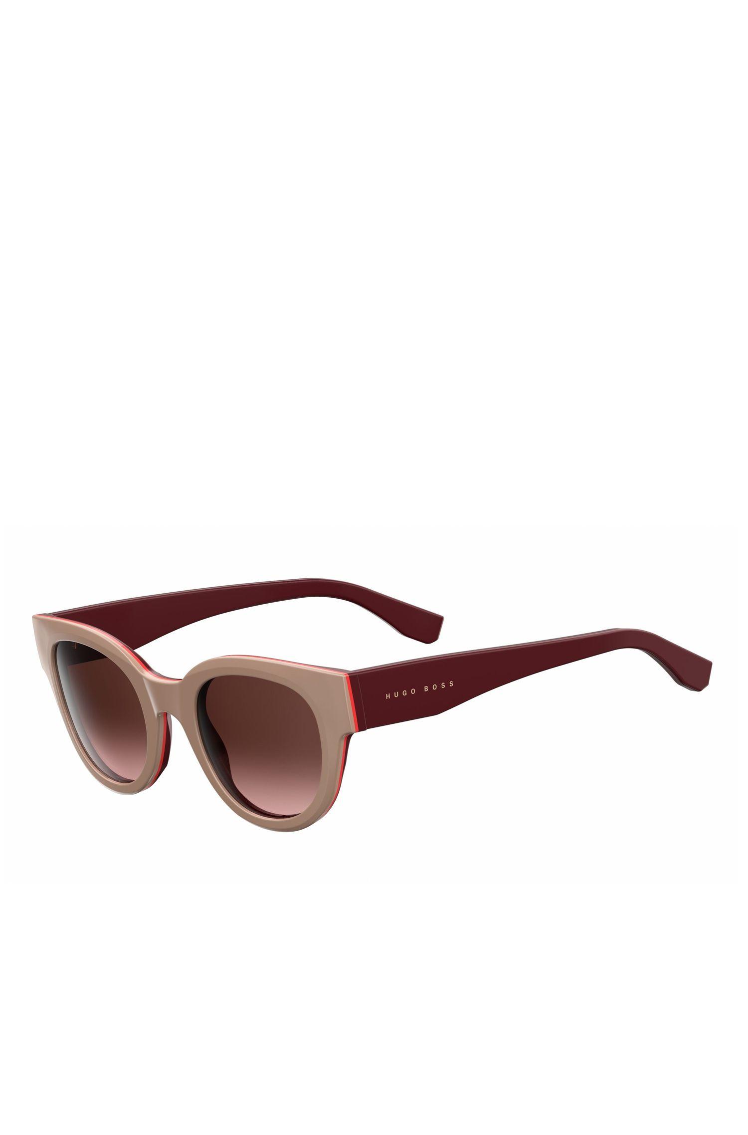 'BOSS 0888S' | Gradient Lens Block Cat Eye Sunglasses