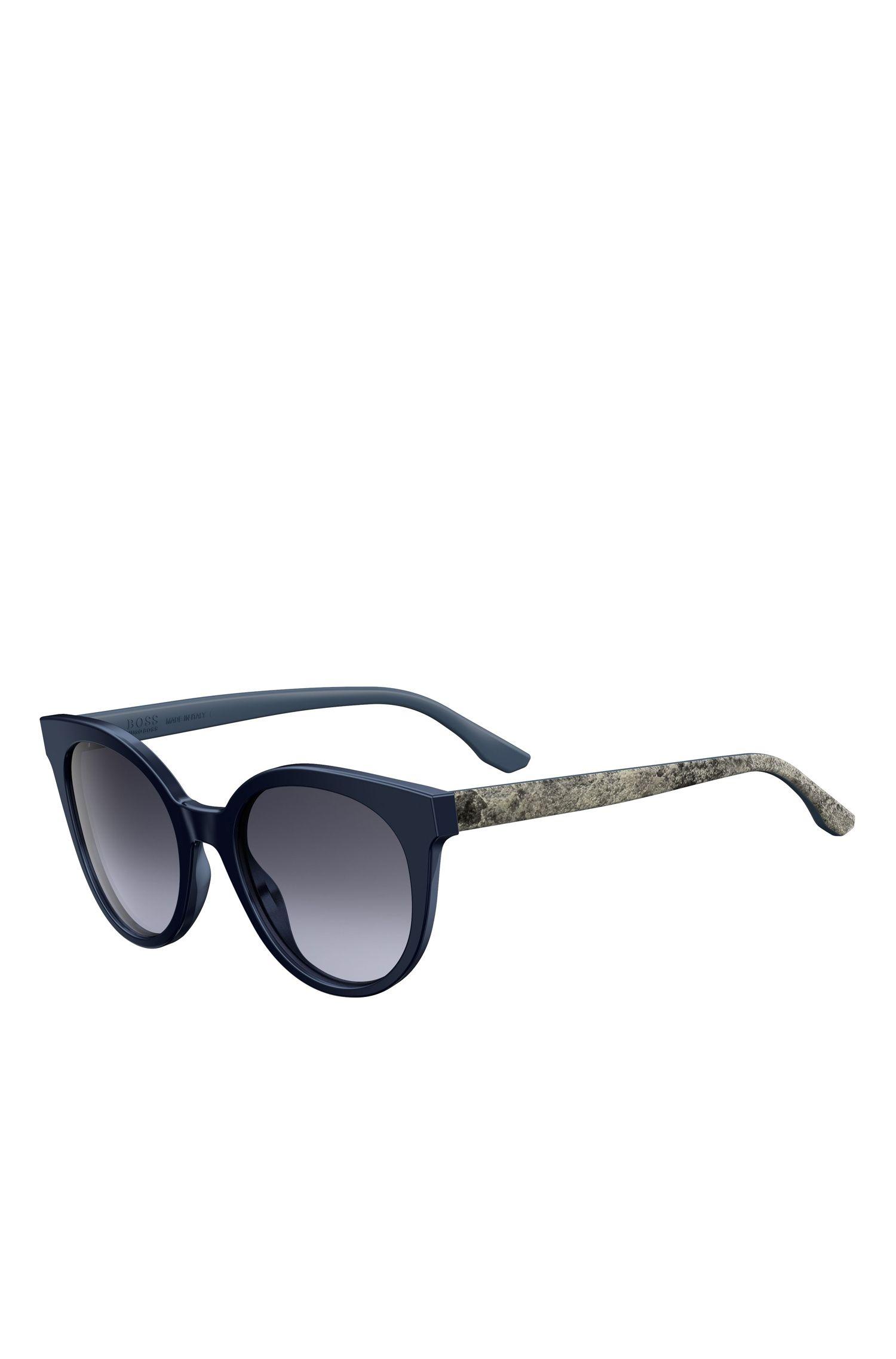 Tortoiseshell Acetate Round Sunglasses | BOSS 0890