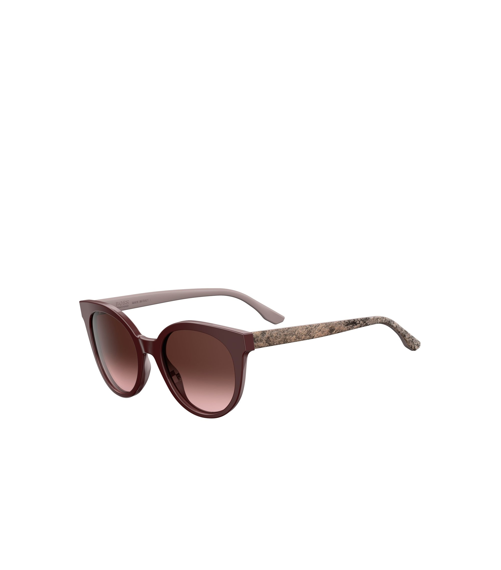 Burgundy Acetate Round Sunglasses | BOSS 0890S, Assorted-Pre-Pack