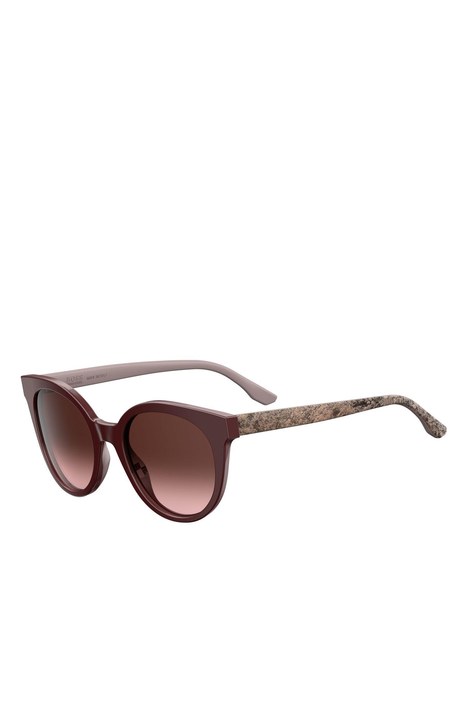 'BOSS 0890S' | Burgundy Acetate Round Sunglasses
