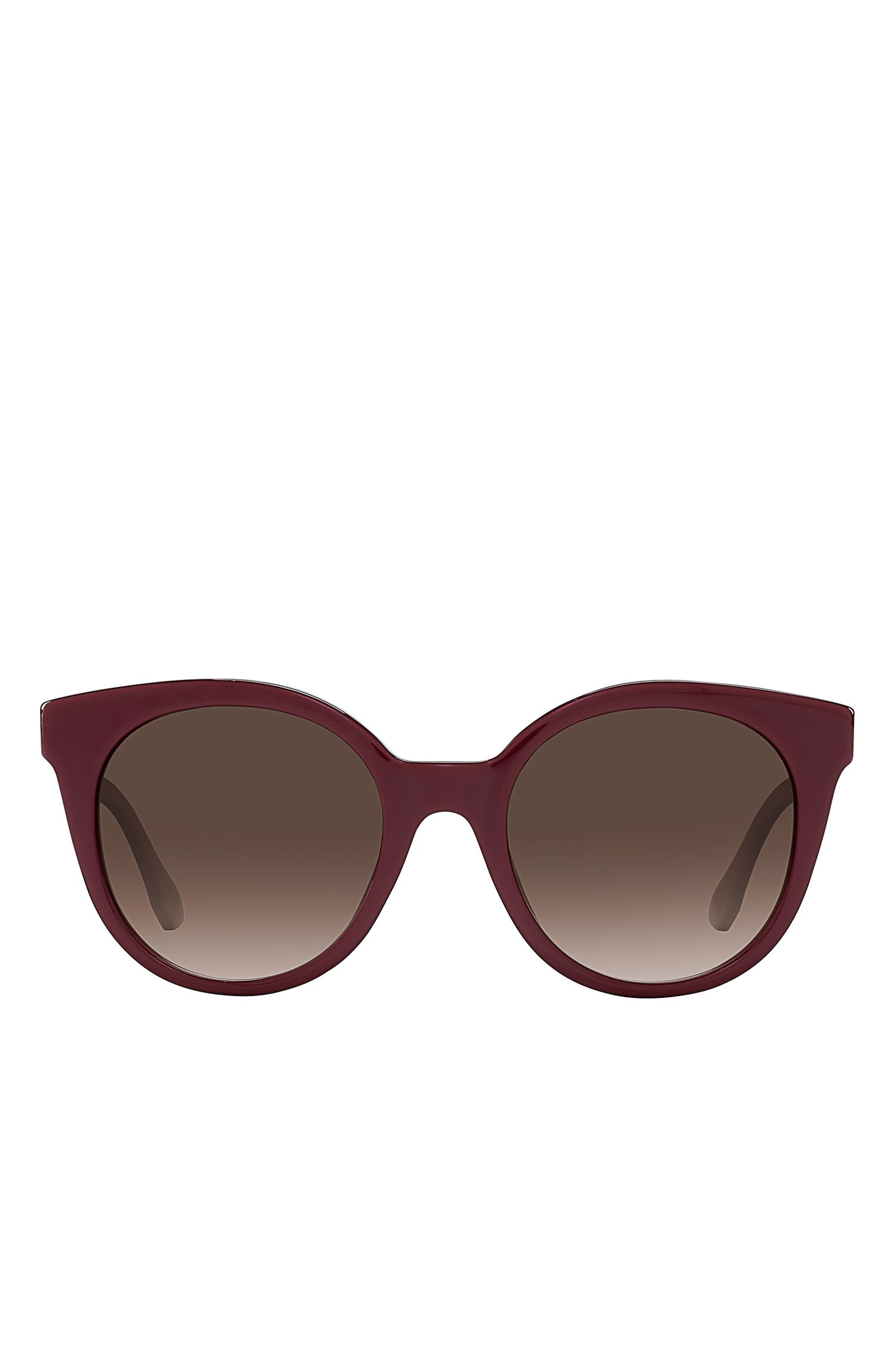 Burgundy Acetate Round Sunglasses | BOSS 0890S