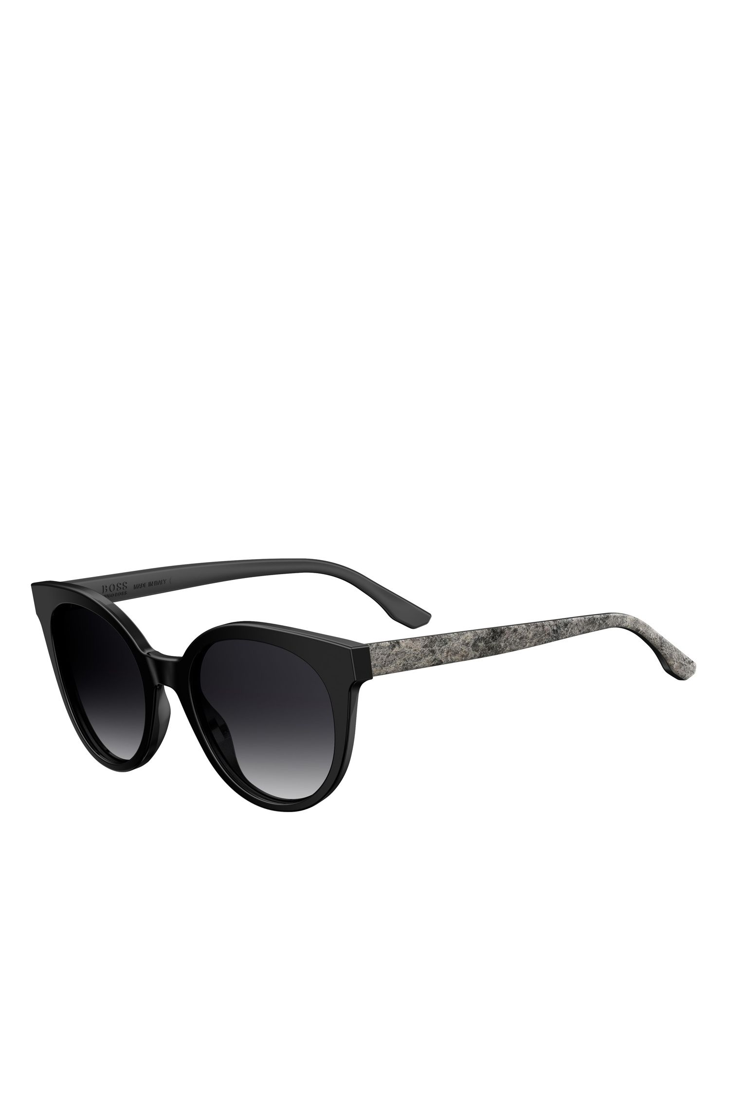 'BOSS 0890S' | Black Acetate Round Sunglasses