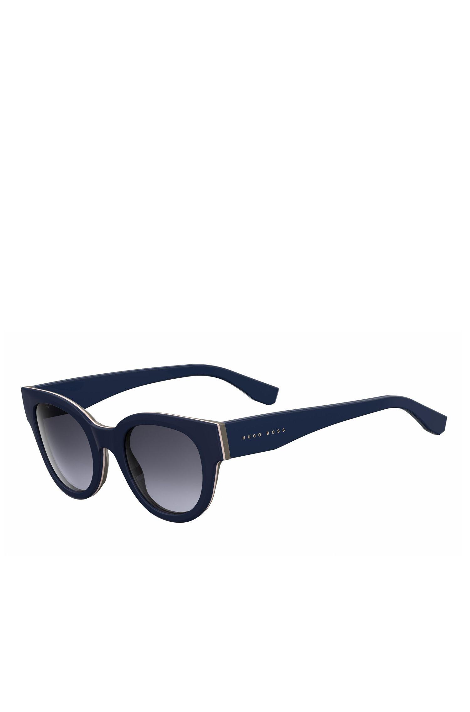 Navy Acetate Round Sunglasses | BOSS 0888S