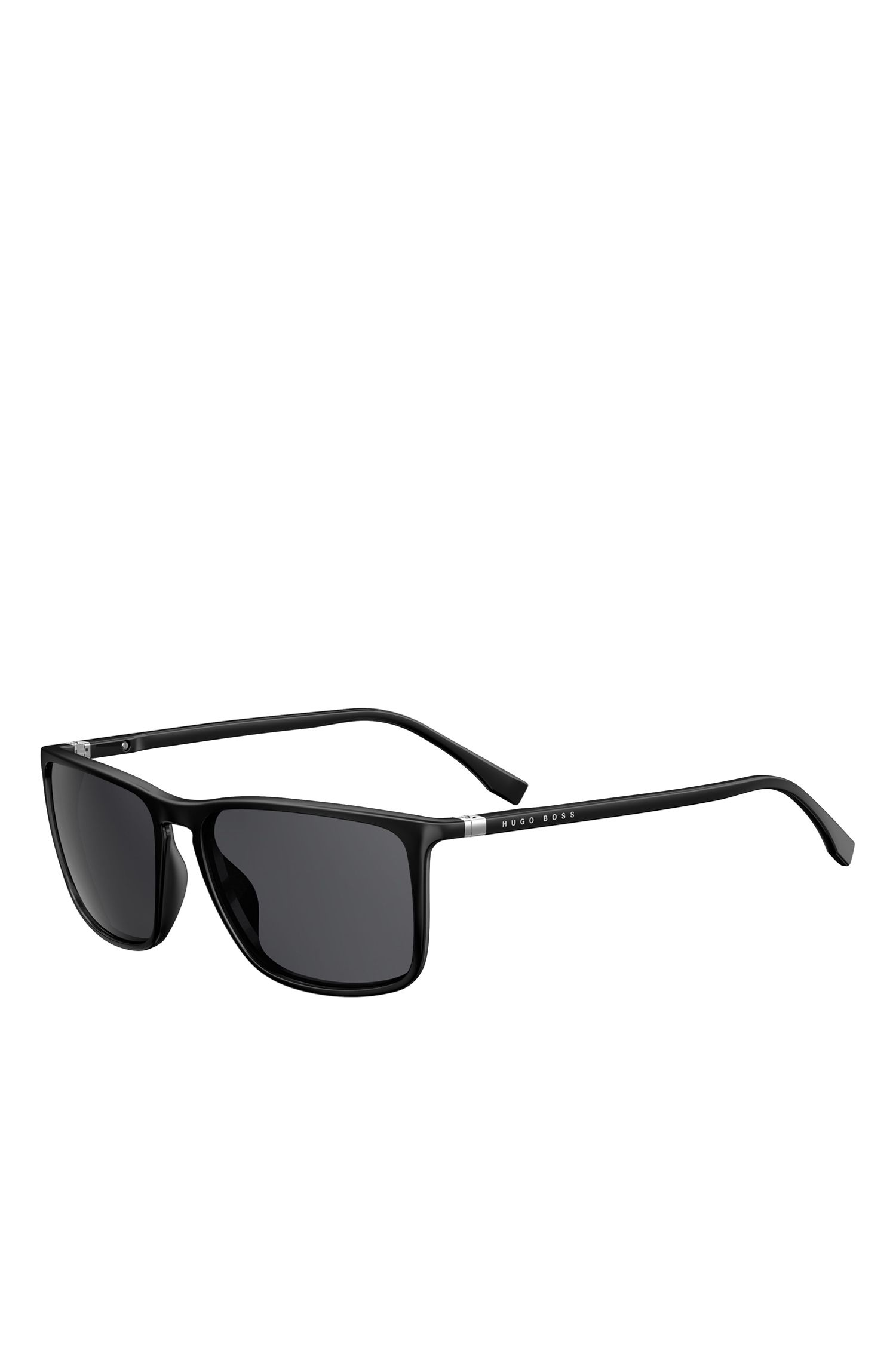 'BOSS 0665S' | Black Lens Polarized Square Sunglasses