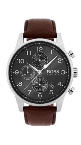 Navigator Classic, Leather Chronograph Watch   1513494, Assorted-Pre-Pack