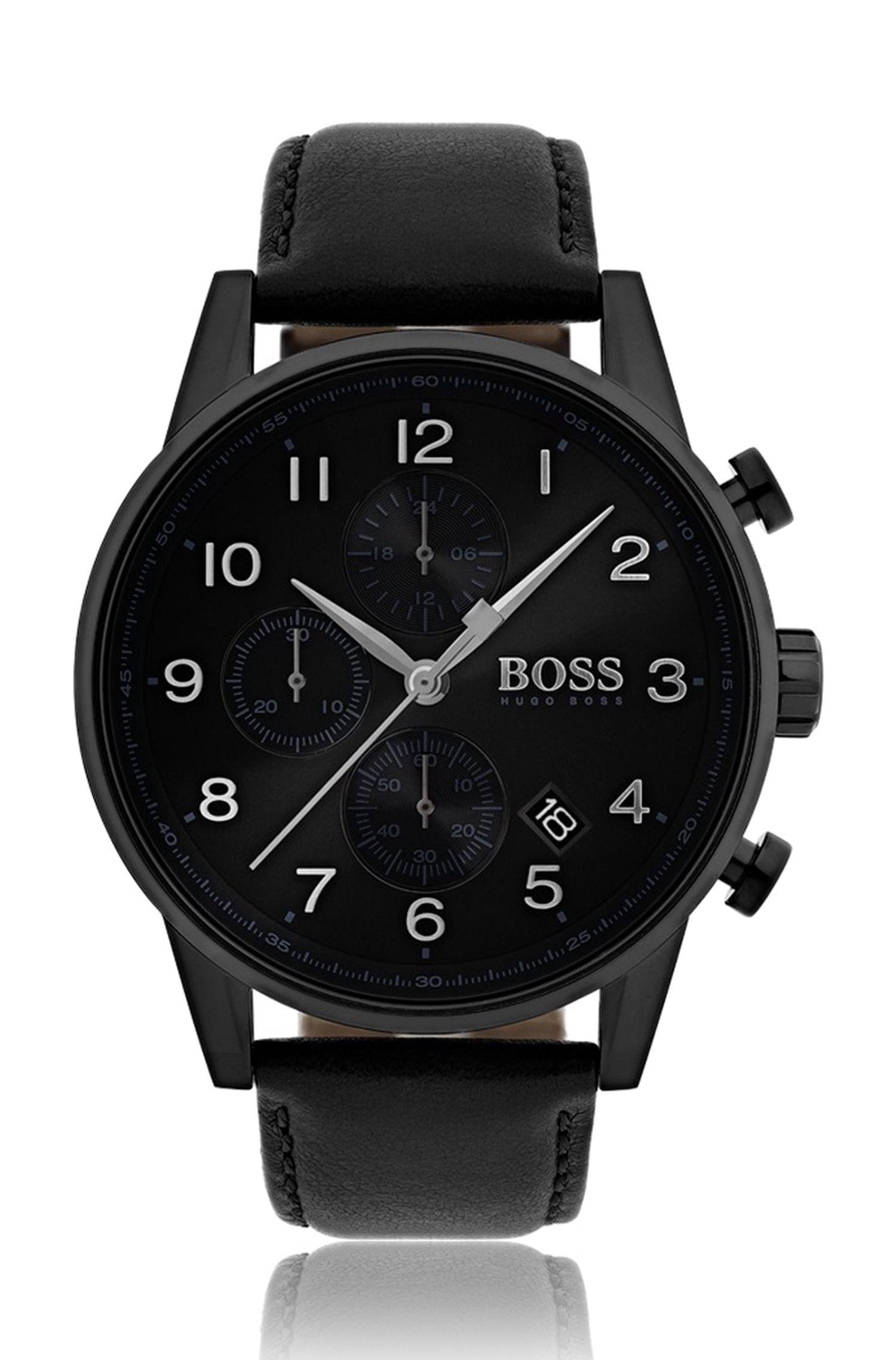 '513499' | Navigotor Classic, Italian Leather Chronograph Watch