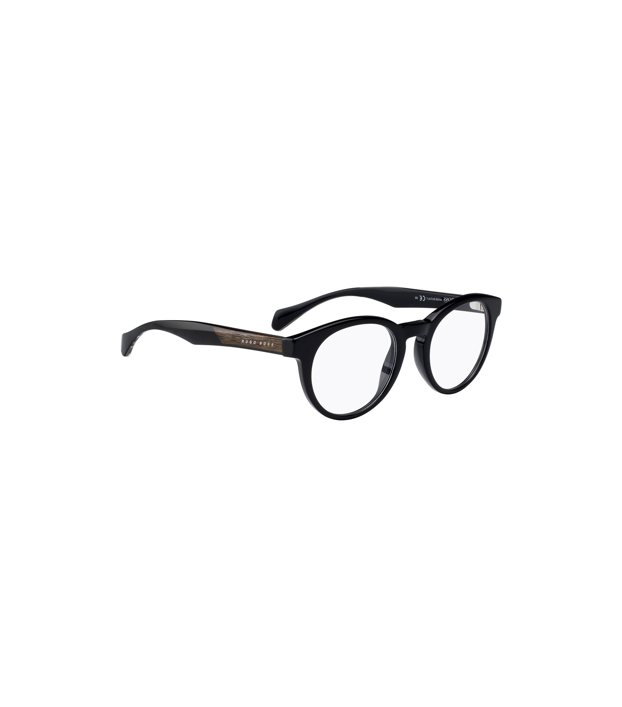 'BOSS 0913 1YS' | Black Acetate Round Optical Frames, Assorted-Pre-Pack