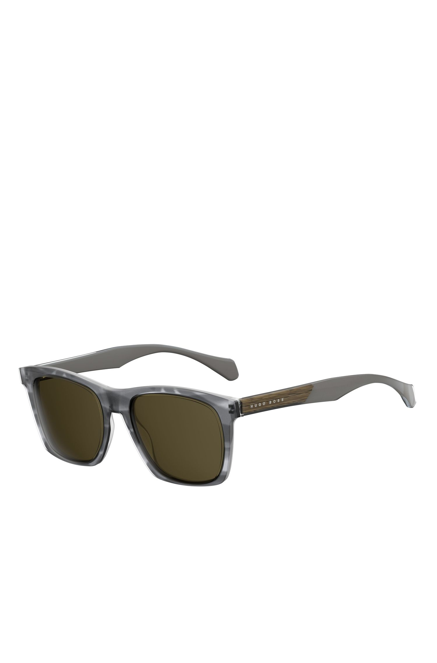 Grey Acetate Rectangular Sunglasses | BOSS 0911/S
