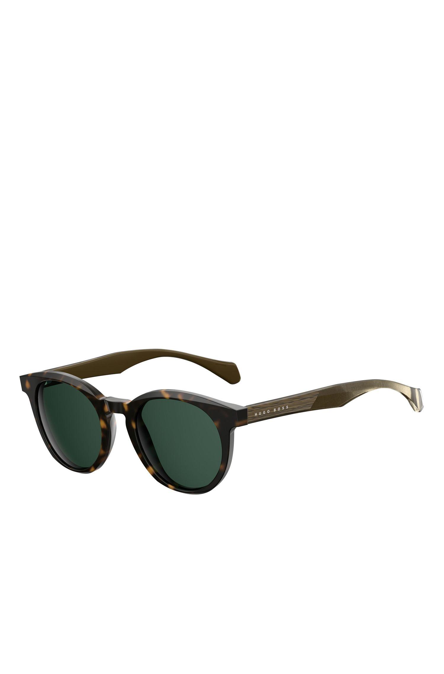 'BOSS 0912/S' | Black Acetate Round Sunglasses