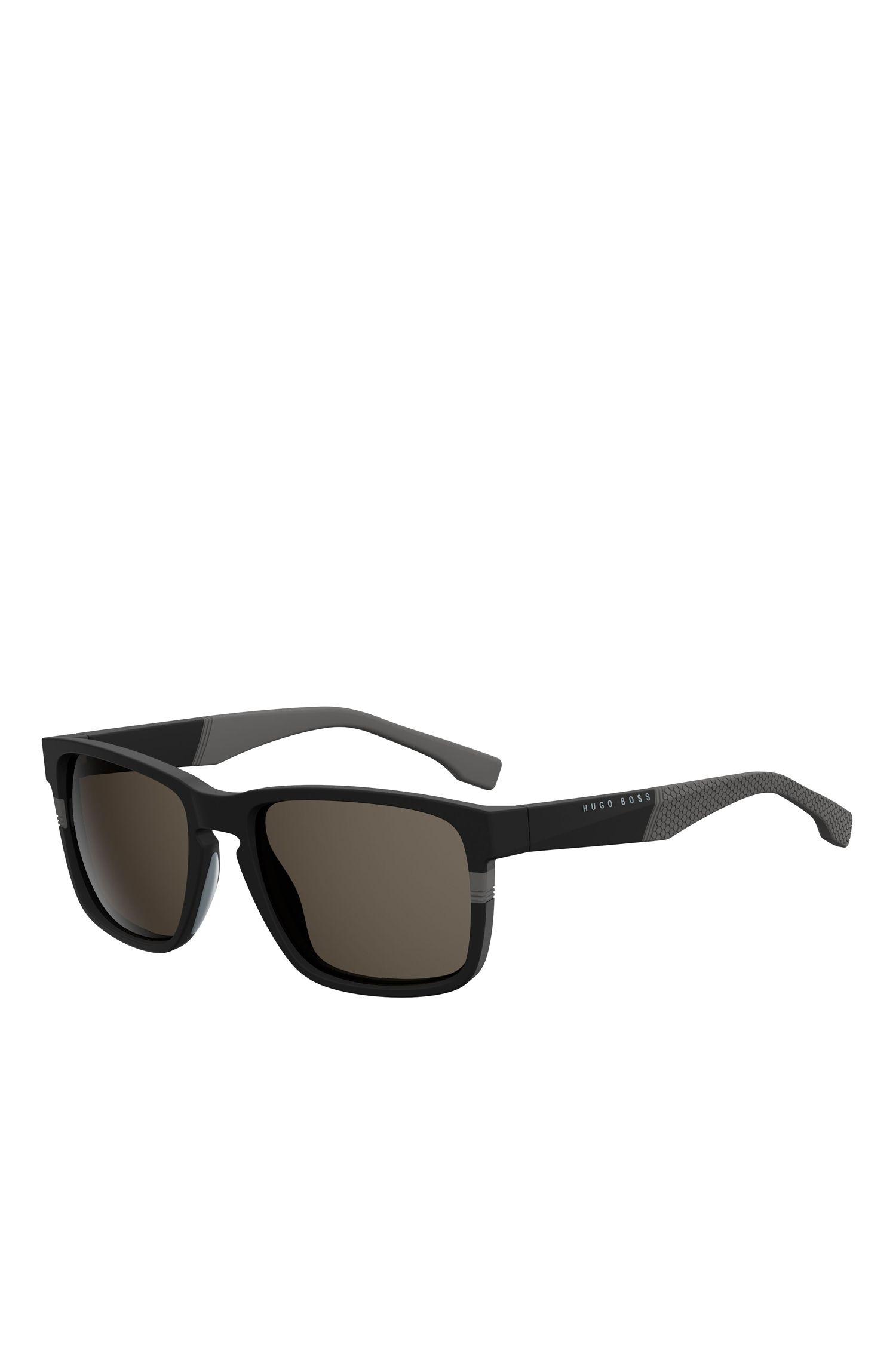 'BOSS 0916/S' | Black Rectangular Acetate Sunglasses
