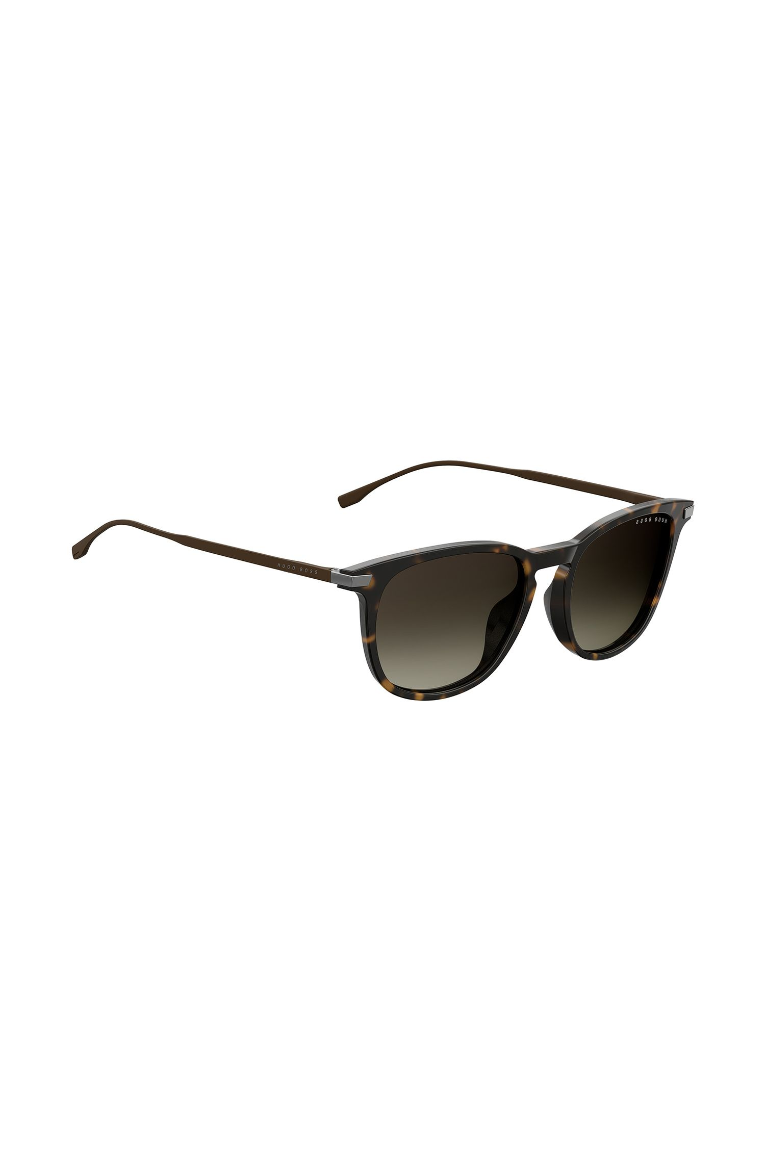 Havana-pattern sunglasses with metallic temples, Assorted-Pre-Pack
