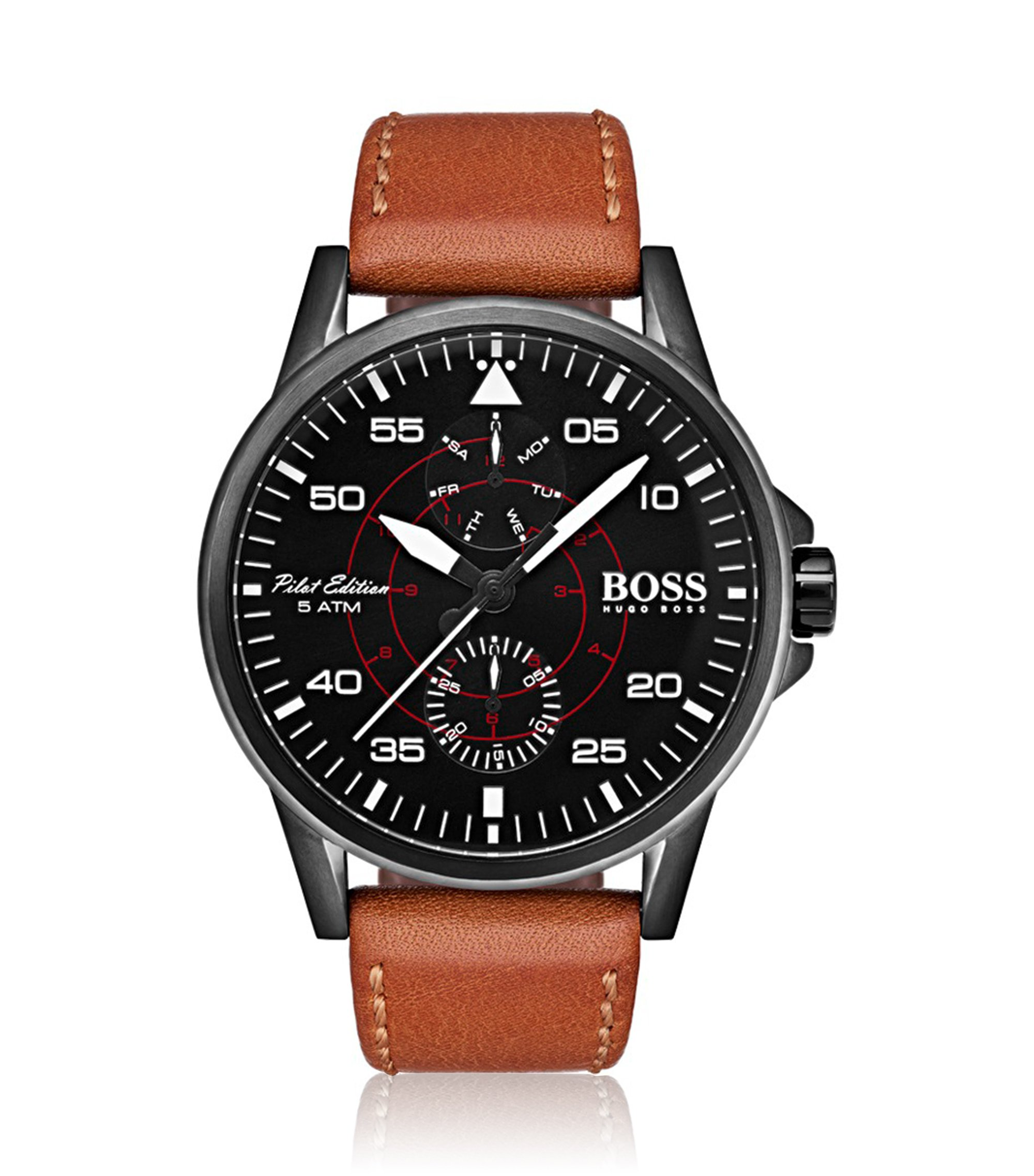Aviator Casual Sport, Leather Strap Watch | 1513517, Assorted-Pre-Pack