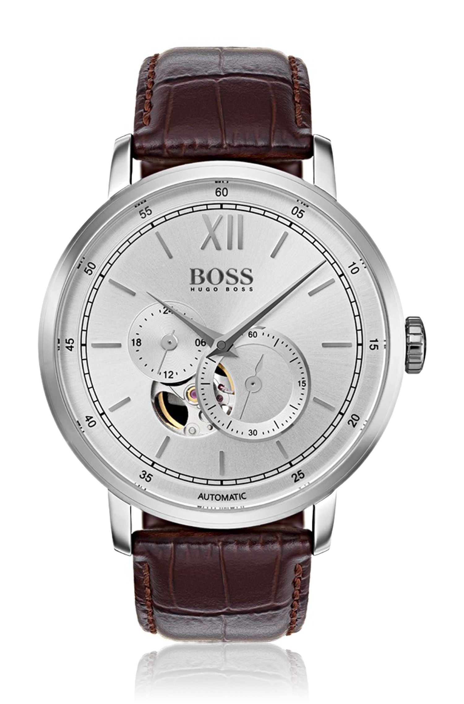 Signature Timepiece Classic, Leather Strap Watch | 1513505