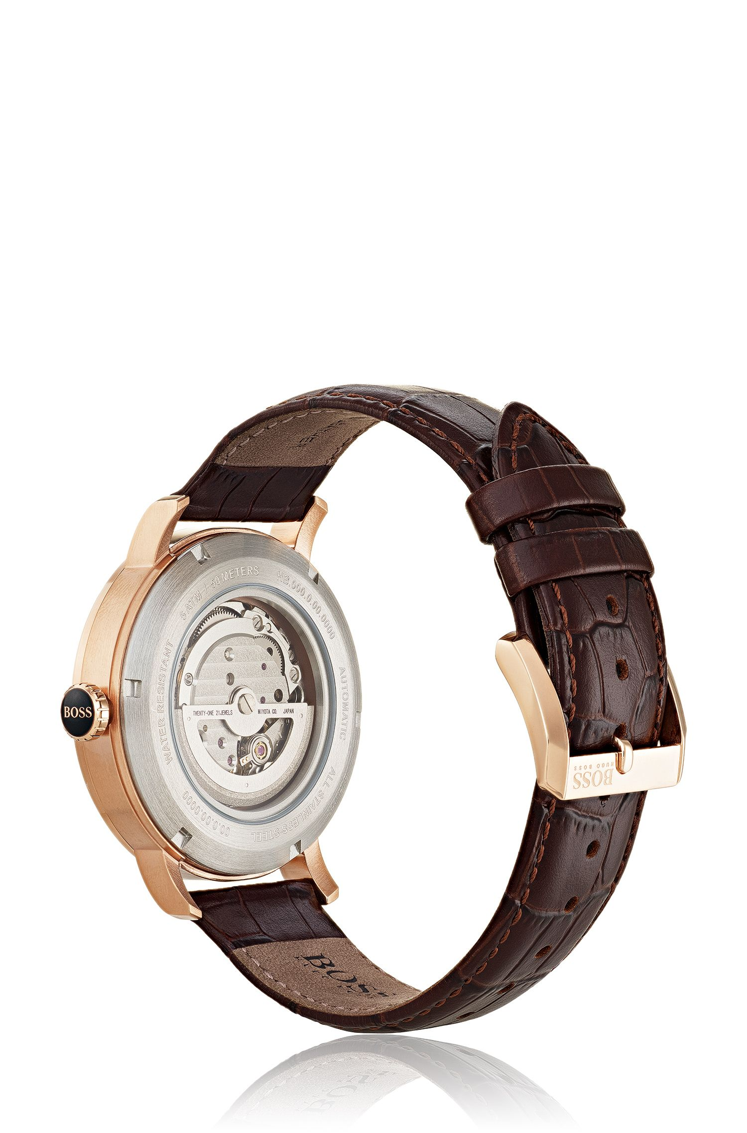 Signature Timepiece Classic, Crocodile Embossed Leather Strap | 1513504
