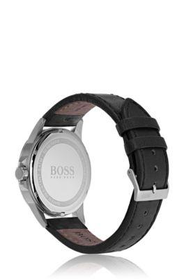c70dc3f89 BOSS - Aviator Casual Sport, Leather Strap Watch | 1513515
