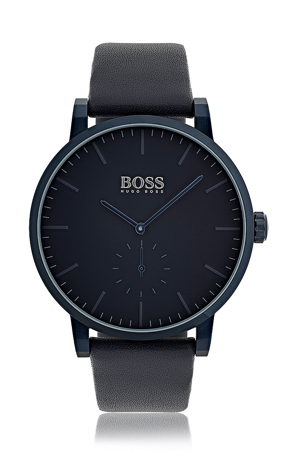 us watch modern essence watches boss social italian leather sharing