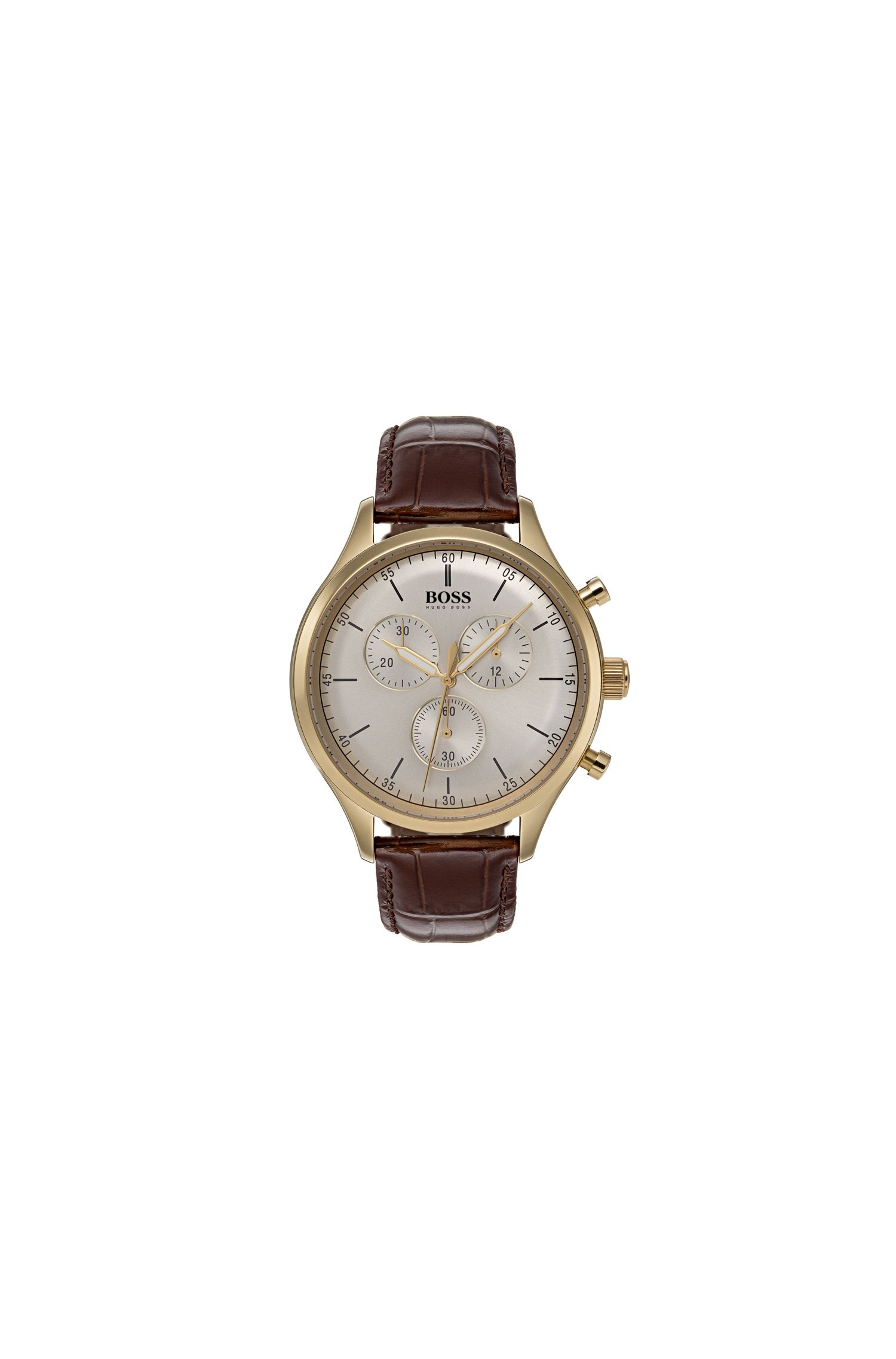 Companion, Leather Chronograph Watch | 1513545
