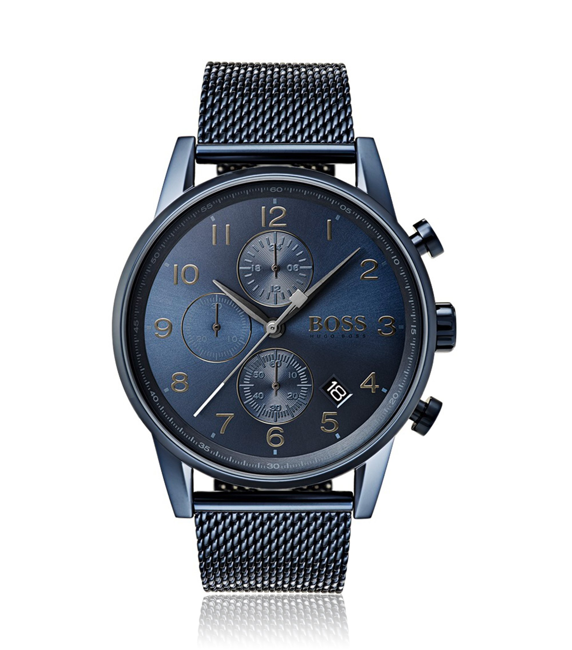 Navigator, Stainless Steel Chronograph Watch   1513538, Assorted-Pre-Pack