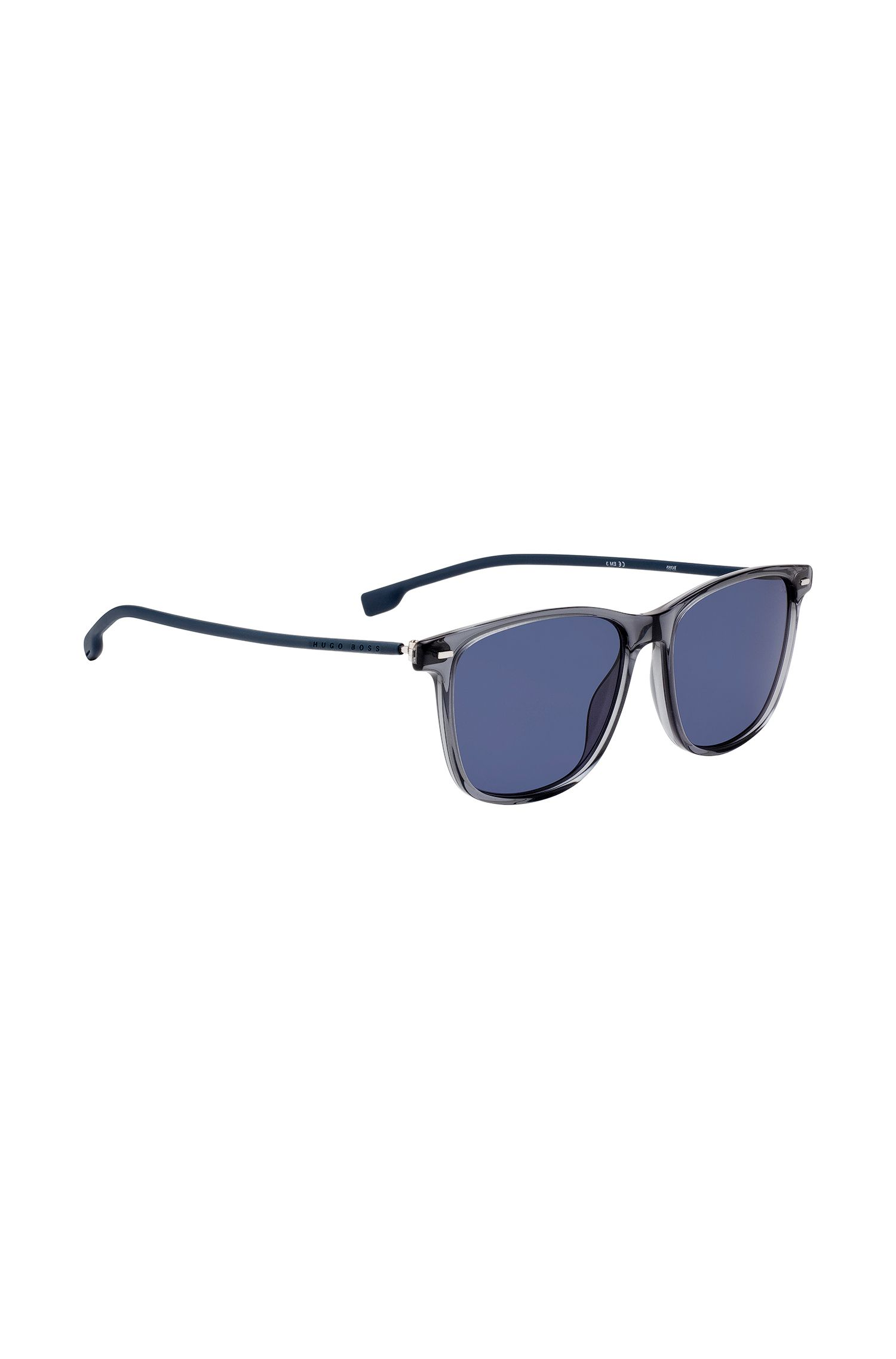 Gray acetate sunglasses with steel and rubber temples, Assorted-Pre-Pack