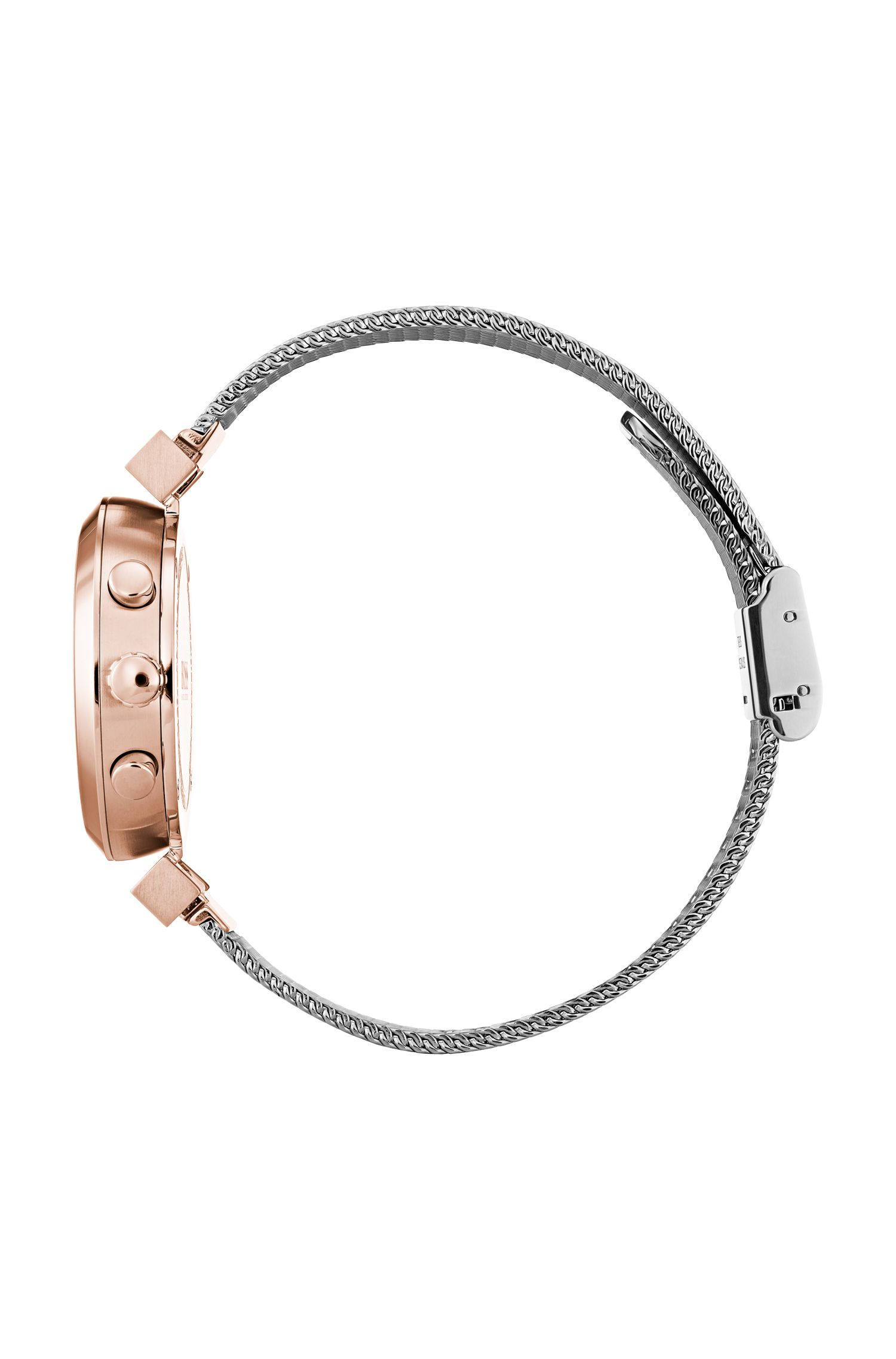 Multi-eye watch in carnation-gold