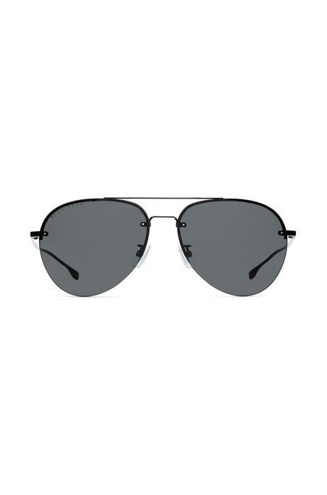 Asian-fit sunglasses in titanium with double bridge, Assorted-Pre-Pack