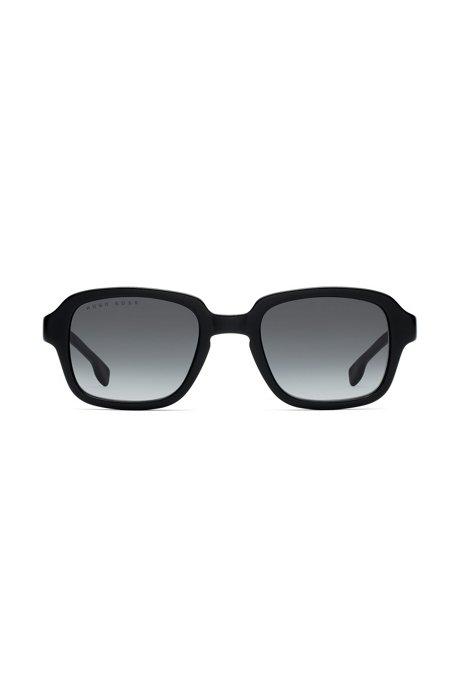 Square sunglasses in black acetate, Assorted-Pre-Pack