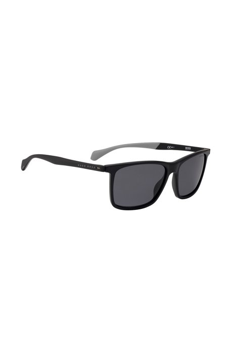 Acetate sunglasses with rubberized temples, Assorted-Pre-Pack