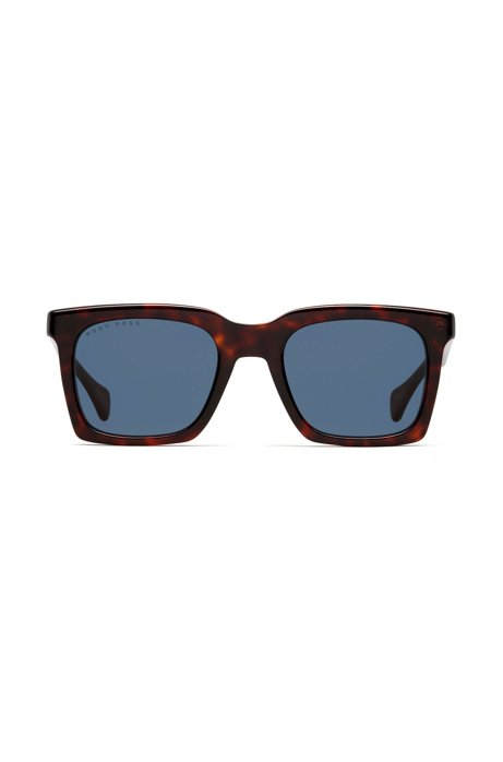 Retro-inspired sunglasses in acetate with Havana frames, Assorted-Pre-Pack