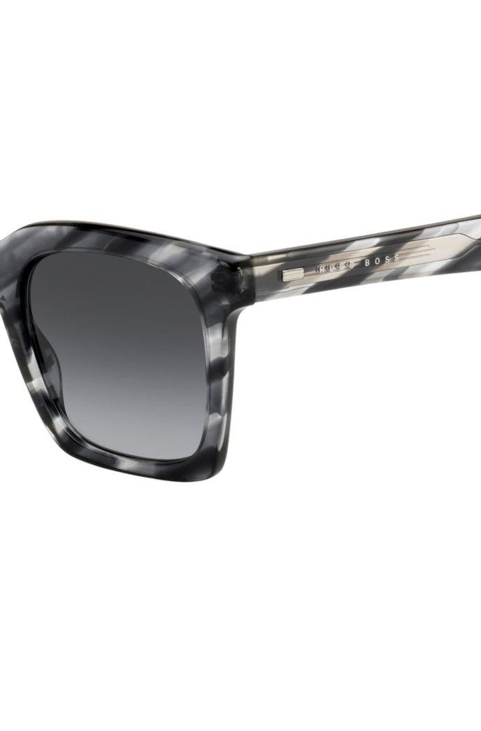 Acetate sunglasses with monochrome-Havana motif