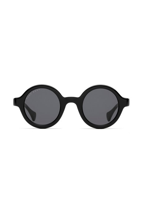 Round sunglasses in black acetate, Assorted-Pre-Pack