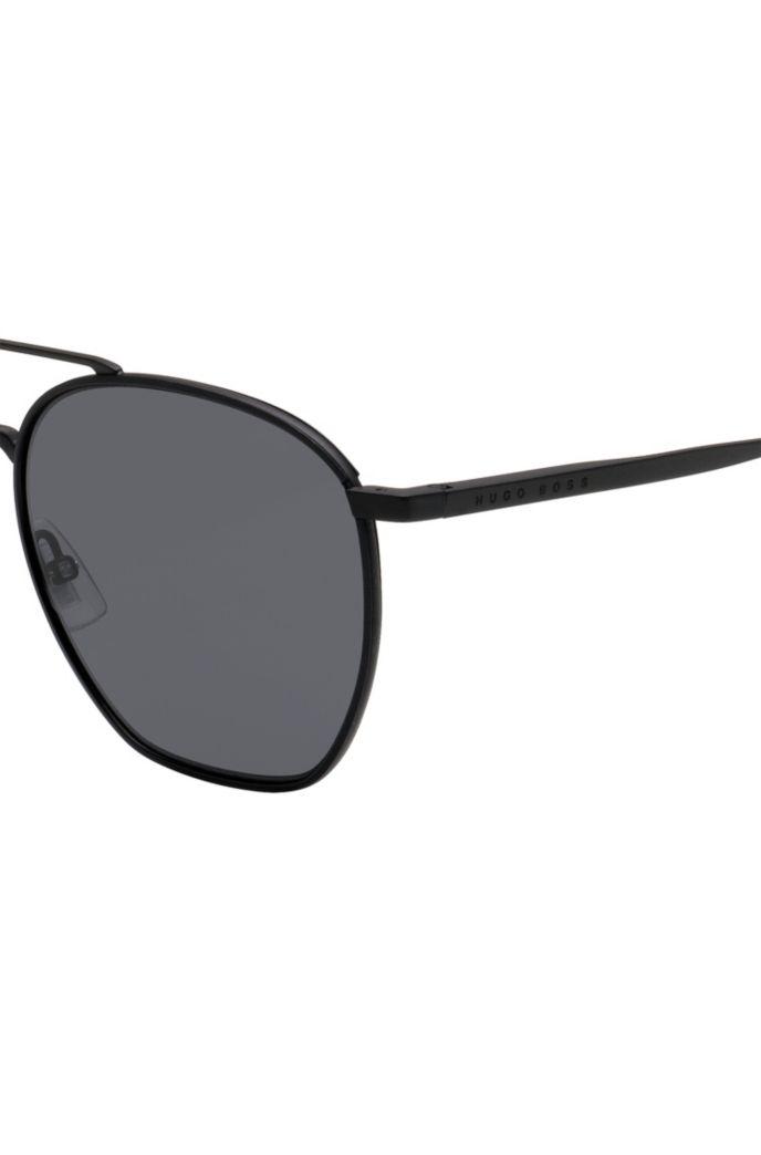 Double-bridge sunglasses with Windsor-rim frames