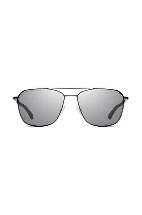 Double-bridge sunglasses with mirrored lenses, Assorted-Pre-Pack