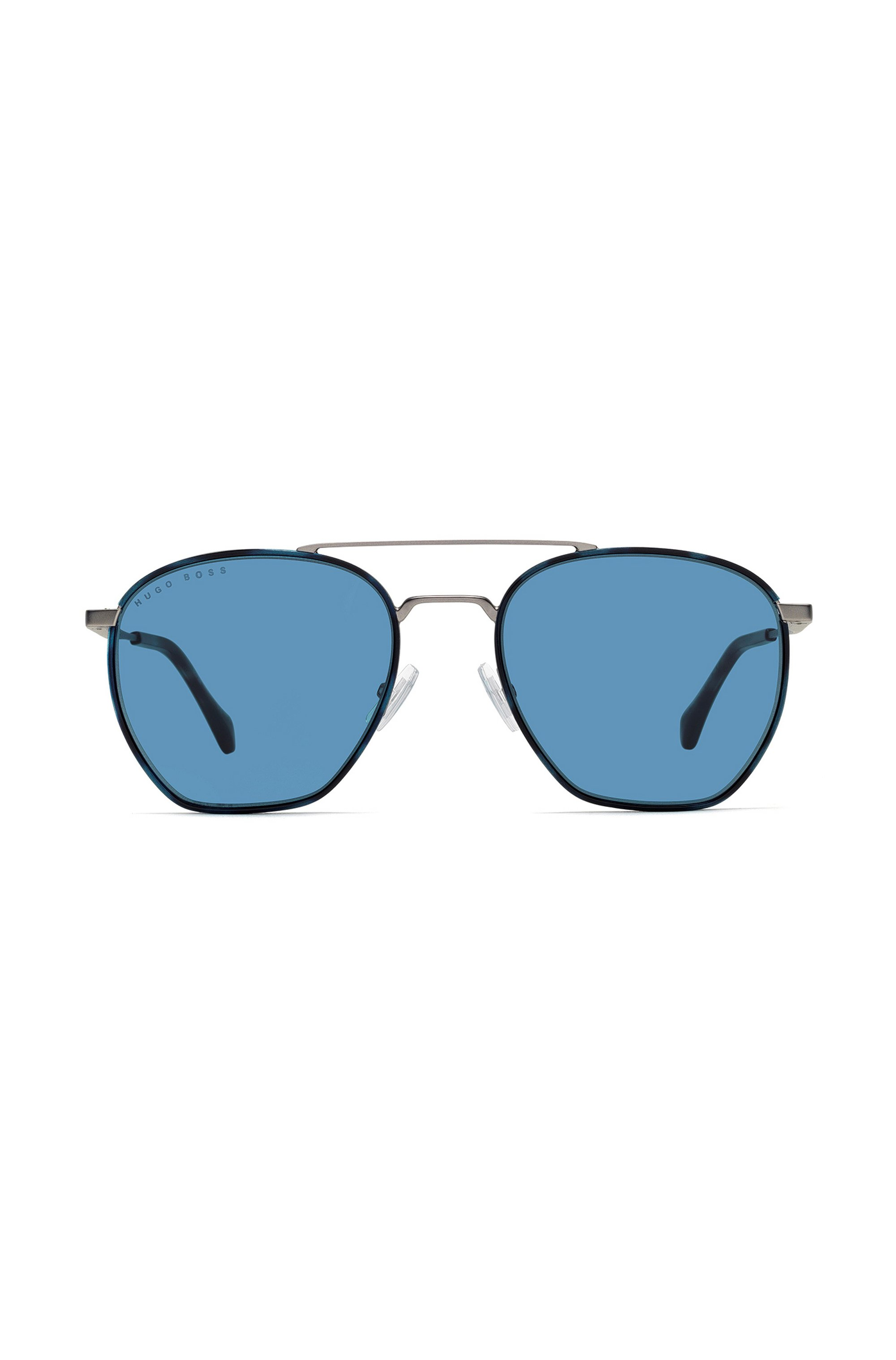 Windsor-rim sunglasses with 3D temples and tonal logo