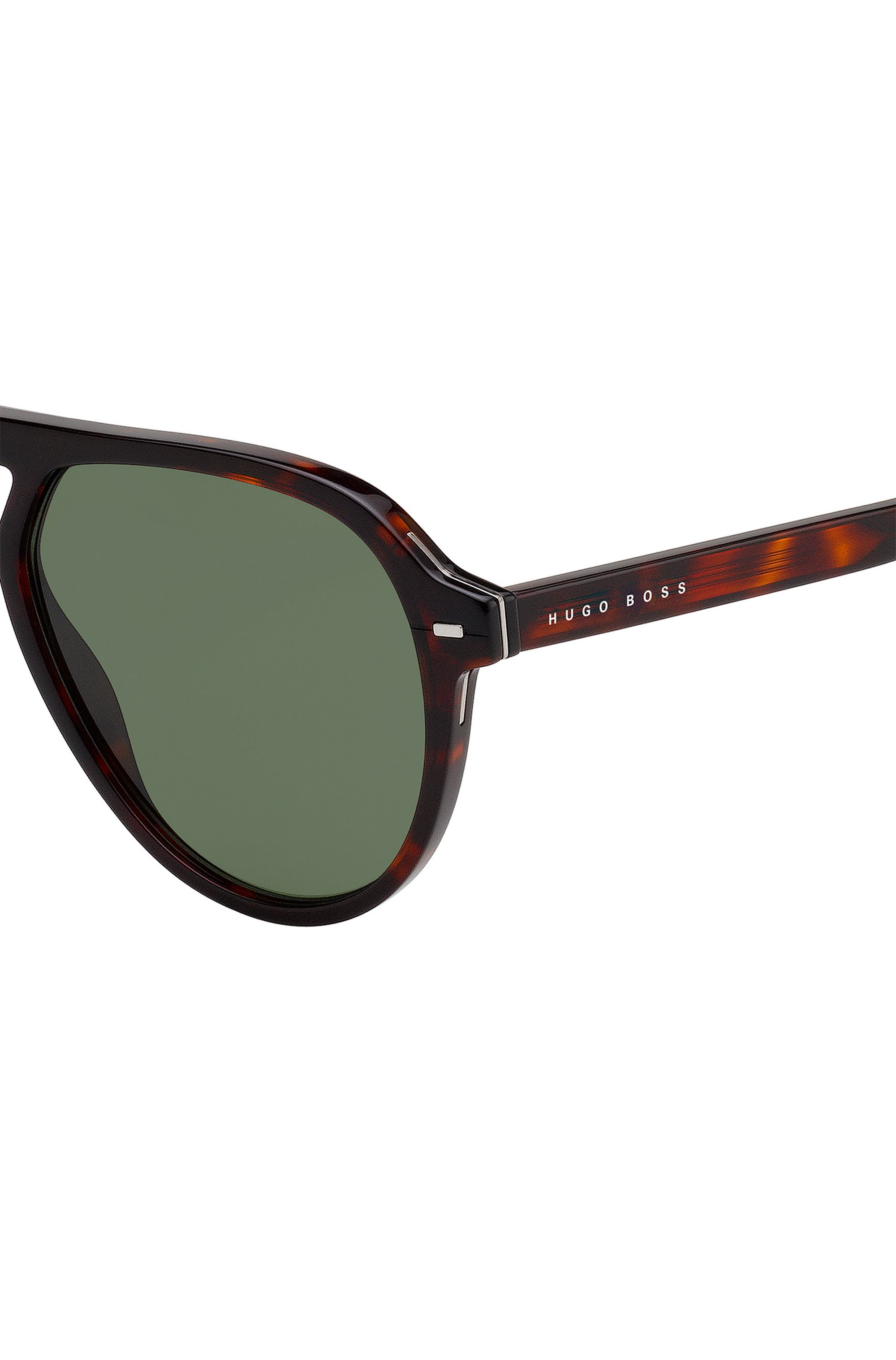 Havana sunglasses in acetate with hardware accents