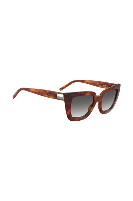 Dark-Havana sunglasses in acetate with hardware detail, Assorted-Pre-Pack