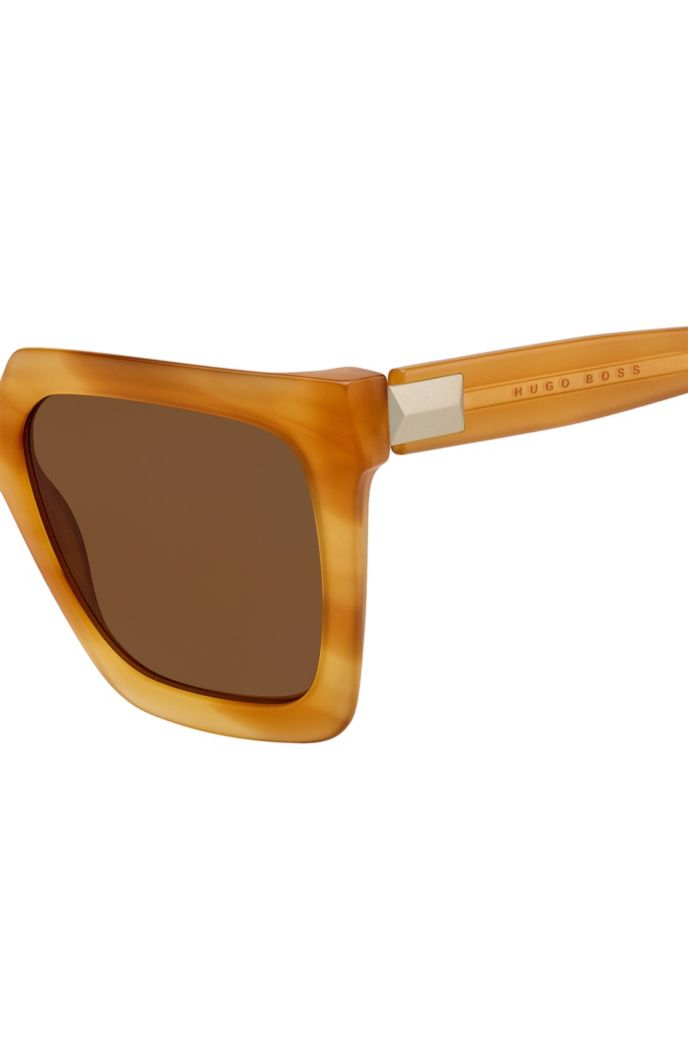 Light-Havana sunglasses in acetate with hardware detail