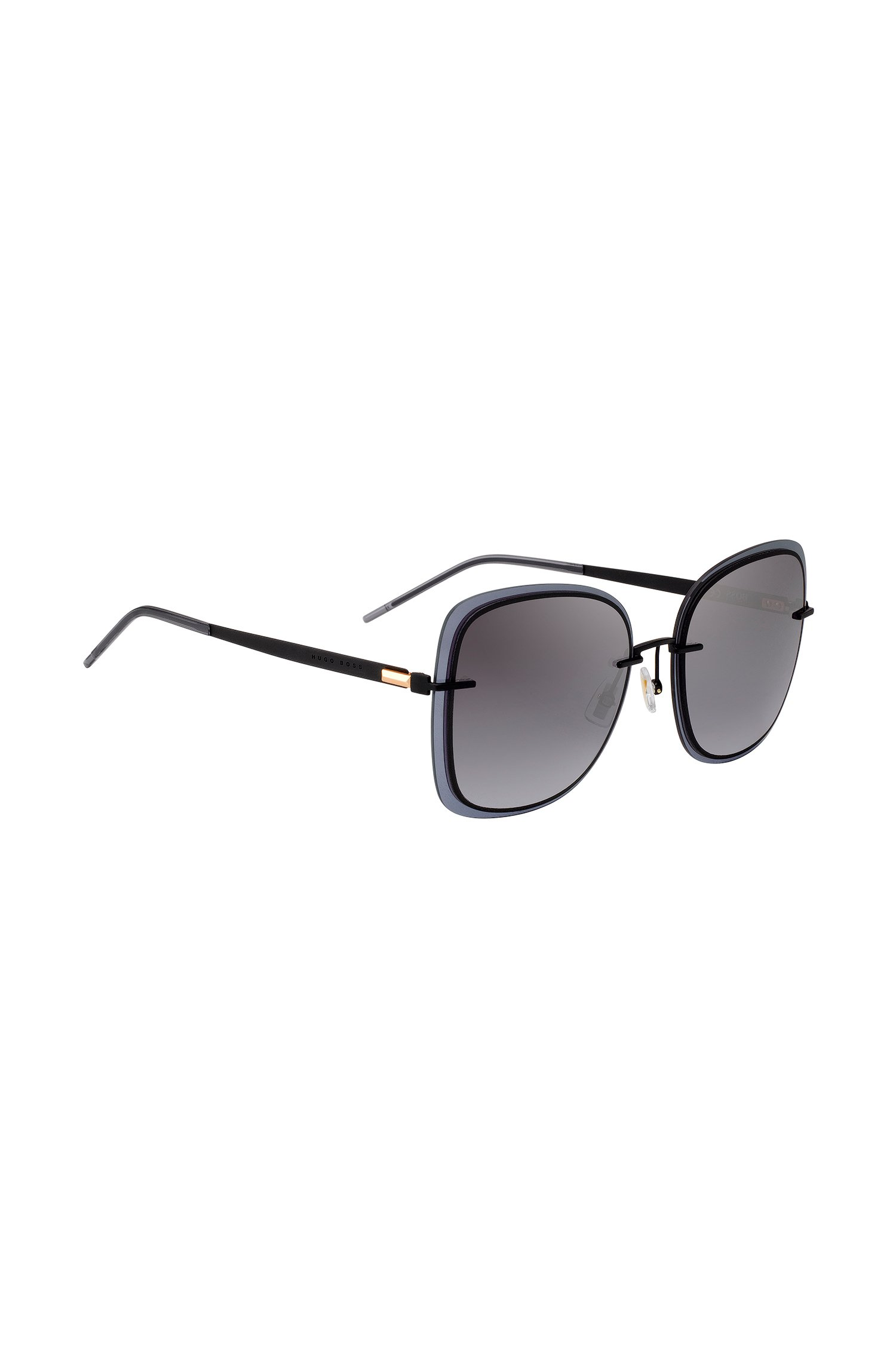 Black sunglasses with transparent edging, Assorted-Pre-Pack