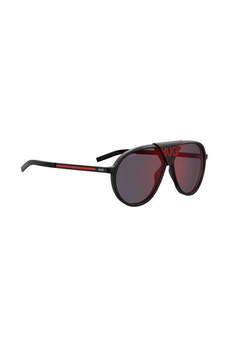 Vintage-inspired sunglasses with bridge logo, Assorted-Pre-Pack